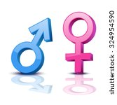 sex symbol. gender man and... | Shutterstock .eps vector #324954590