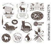 Wool Labels  Elements And Logo...