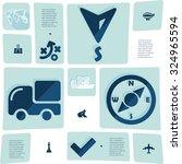 navigation flat infographic | Shutterstock .eps vector #324965594