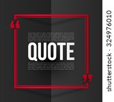 red vector quote frame with... | Shutterstock .eps vector #324976010