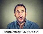shocked man  | Shutterstock . vector #324976514
