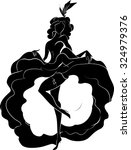 Cancan Dancer Silhouette