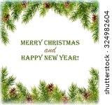 green christmas tree pine... | Shutterstock . vector #324982604