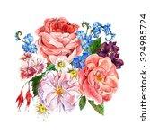 Picturesque Floral Bouquet Wit...