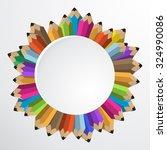 vector pencil flat illustration.... | Shutterstock .eps vector #324990086