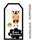 cute reindeer halloween tag   Shutterstock .eps vector #324992684