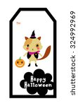 cute kitten halloween tag | Shutterstock .eps vector #324992969