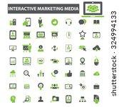 interactive marketing media...   Shutterstock .eps vector #324994133