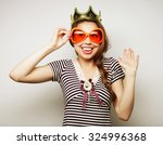 party image. playful young... | Shutterstock . vector #324996368