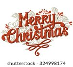 merry christmas retro poster... | Shutterstock .eps vector #324998174