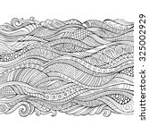 vector hand drawn outline... | Shutterstock .eps vector #325002929