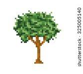 pixel art tree isolated vector... | Shutterstock .eps vector #325005140