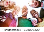 friendship huddle happiness... | Shutterstock . vector #325009220