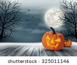 halloween spooky background.... | Shutterstock .eps vector #325011146