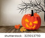 halloween background with a... | Shutterstock .eps vector #325013750