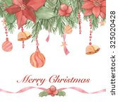 christmas greeting card. merry... | Shutterstock . vector #325020428