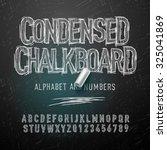 condensed chalk alphabet...   Shutterstock .eps vector #325041869