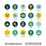 round icons thin flat design ...
