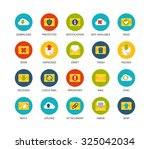 round icons thin flat design ... | Shutterstock .eps vector #325042034