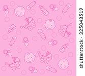 sweet pink baby girl elements... | Shutterstock . vector #325043519