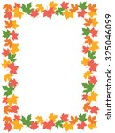 autumn frame with colorful... | Shutterstock . vector #325046099