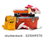 toolboxes and instruments... | Shutterstock . vector #325049570