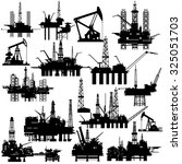 drilling rigs and pumps for oil ...   Shutterstock .eps vector #325051703