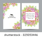 vintage delicate invitation... | Shutterstock .eps vector #325053446