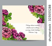 romantic invitation. wedding ... | Shutterstock .eps vector #325055288