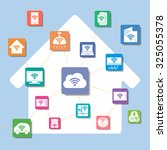 internet of things  home...   Shutterstock .eps vector #325055378