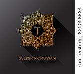 golden elegant monogram with...   Shutterstock .eps vector #325058834