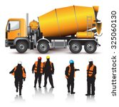 Concrete Mixer Truck And...