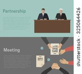 meeting and business... | Shutterstock . vector #325064426