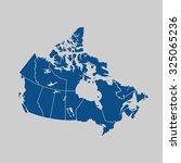 map of canada | Shutterstock .eps vector #325065236
