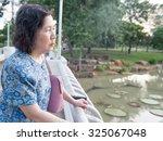 Portrait Of Lonely Senior Asia...