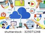 brainstorming sharing online...   Shutterstock . vector #325071248