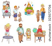 parents caring for children and ... | Shutterstock . vector #325072706