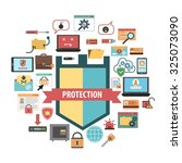 computer virus protection... | Shutterstock . vector #325073090