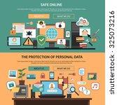 safe online consulting internet ... | Shutterstock . vector #325073216