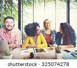 diversity friends team... | Shutterstock . vector #325074278