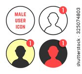set of male user icons. concept ...