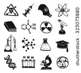 black and white laboratory... | Shutterstock . vector #325075880