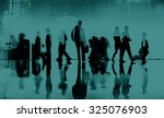 business people commuter... | Shutterstock . vector #325076903