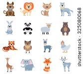 wild and home animals set of... | Shutterstock . vector #325080068
