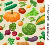 vegetables seamless pattern...   Shutterstock . vector #325080170