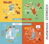 american football basketball... | Shutterstock . vector #325080314