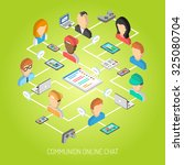 internet chat concept with... | Shutterstock . vector #325080704