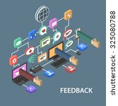 support feedback concept with... | Shutterstock . vector #325080788
