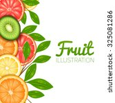 Summer Fruit  Poster With Cut...