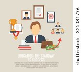 career concept with success and ... | Shutterstock . vector #325081796